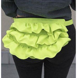 Wavy Fanny Pack and Crossbody Bag - Neon Green